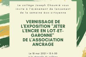 """Exposition """"Jeter l'encre en  Lot-Et-Garonne"""""""